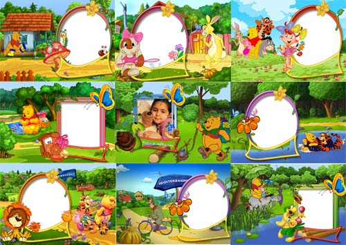 Beautiful Frames Winnie The Pooh Frame Collection