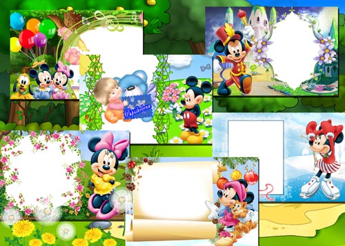 Frame For Photoshop Mickey Mouse | Frame Collection