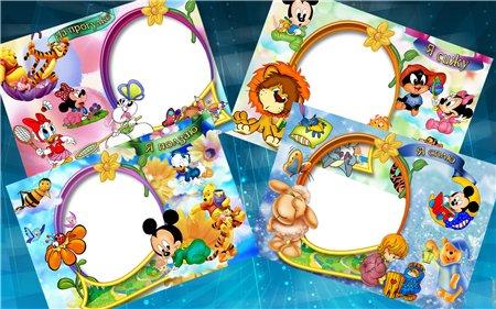 walt disney frames for photoshop - Disney Picture Frame