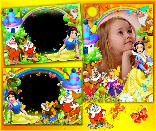 Beautiful Kids Frames Snow White And The Dwarf Frame Collection